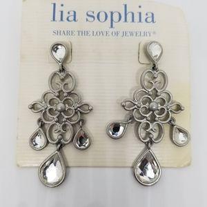 Lia Sophia Silver Ethereal Chandelier Earrings